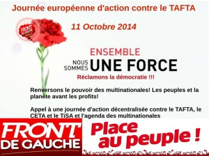 Le Front de Gauche contre le TAFTA